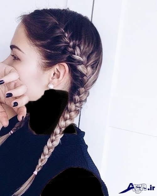مدل بافت موی کنار سر دخترانه