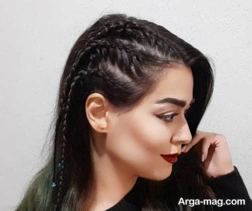 بافت موی دخترانه زیبا