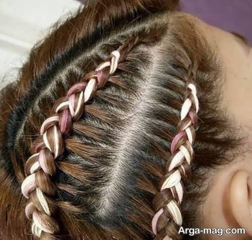 بافت موی دخترانه شیک