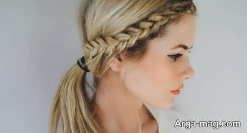 بافت موی دخترانه زیبا و شیک