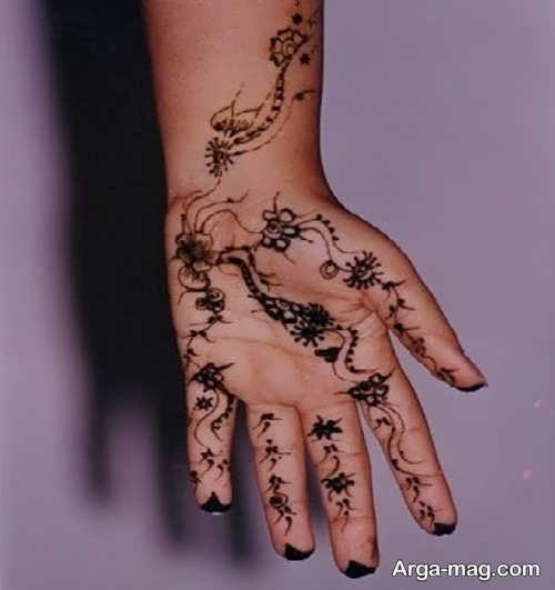 قشنگ ترین طرح حنا روی دست
