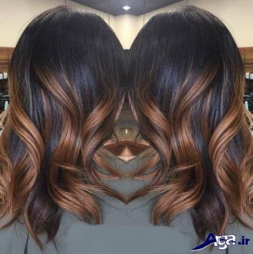 مدل هایلایت شیک روی موی مشکی