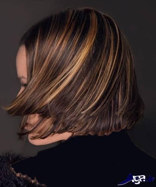 مدل هایلایت سوزنی روی موی مشکی