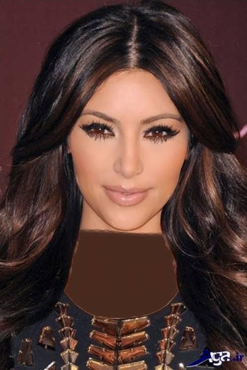 هایلایت قهوه ای روی موی مشکی