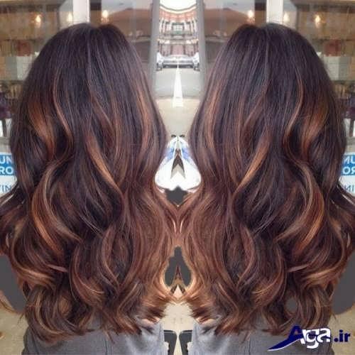 هایلایت روی موهای مشکی