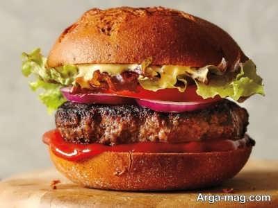 طبخ همبرگر مک دونالد
