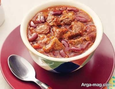 روش تهیه خوراک لوبیا قرمز با گوشت