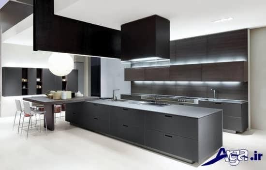 دکوراسیون آشپزخانه سیاه