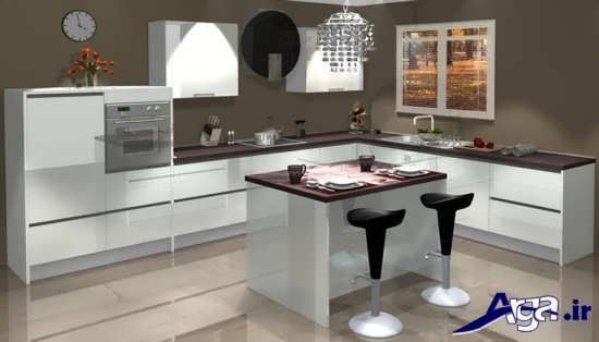 دکوراسیون سفید آشپزخانه