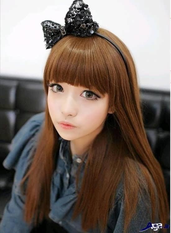 موی بلند دخترانه کره ای