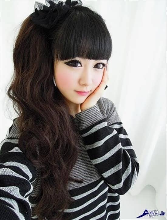 مدل موی بلند دخترانه کره ای