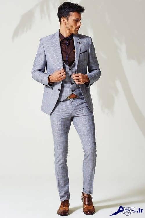 مدل کت و شلوار مردانه اسپرت با رنگ خاکستری