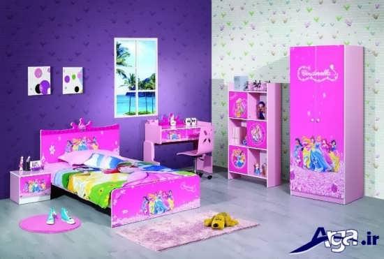 مدل سرویس خواب کودک دخترانه با طرح های مختلف