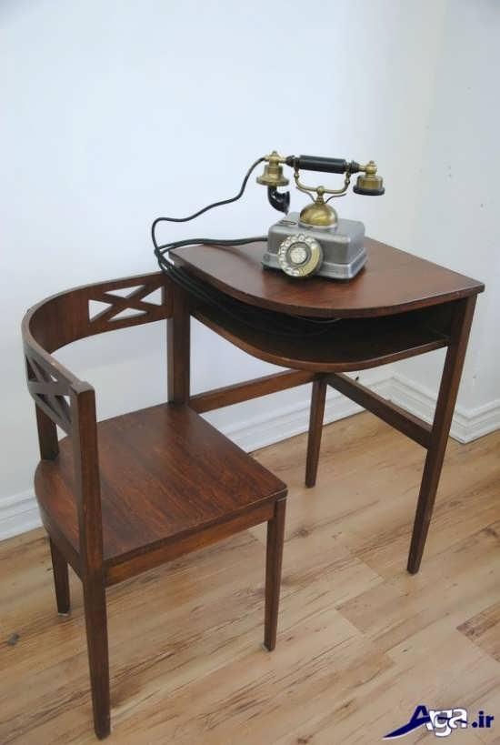میز تلفن با طرحی کلاسیک و زیبا