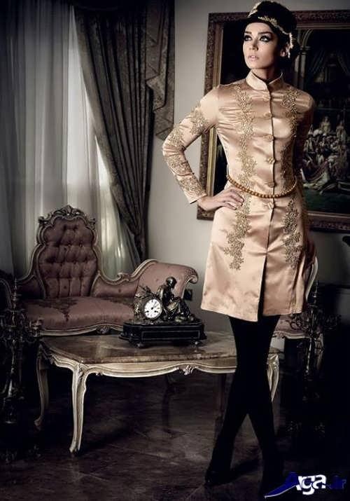 مدل مانتو مجلسی کار شده با دانتل