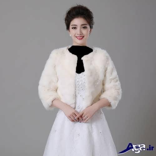 مدل کت زمستانی روی لباس عروس