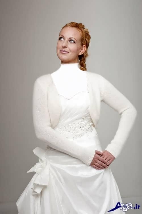 کت زمستانی عروس آستین دار