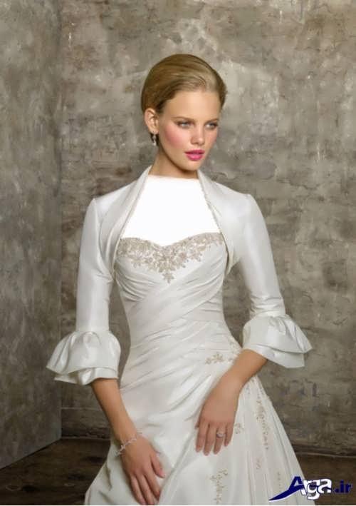 کت عروس آستین دار زیبا