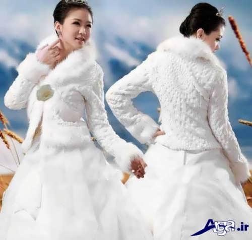 کت عروس با طرح زمستانی