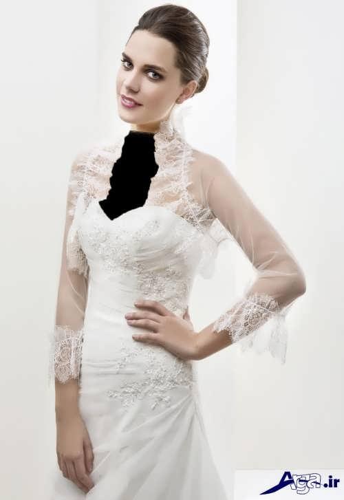 کت توری و آستین دار عروس