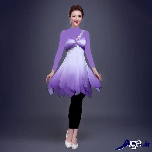 مدل لباس مجلسی دکلته کوتاه