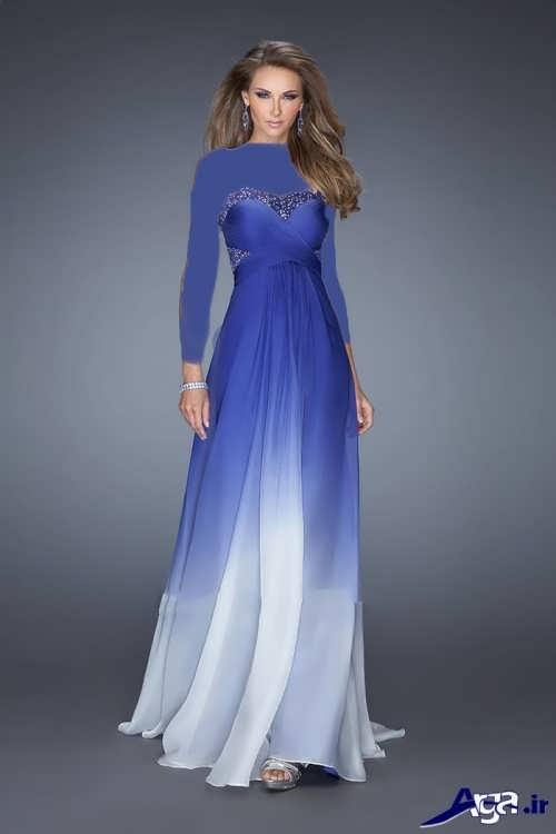 مدل لباس مجلسی دکلته با طرح شیک و بلند