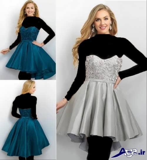 لباس مجلسی کوتاه دکلته دخترانه