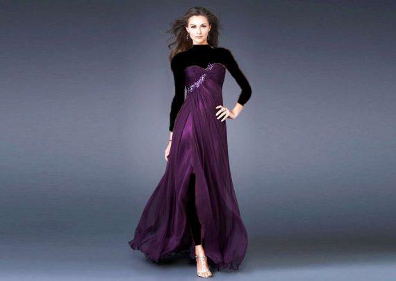 مدل لباس مجلسی دکلته زنانه و دخترانه
