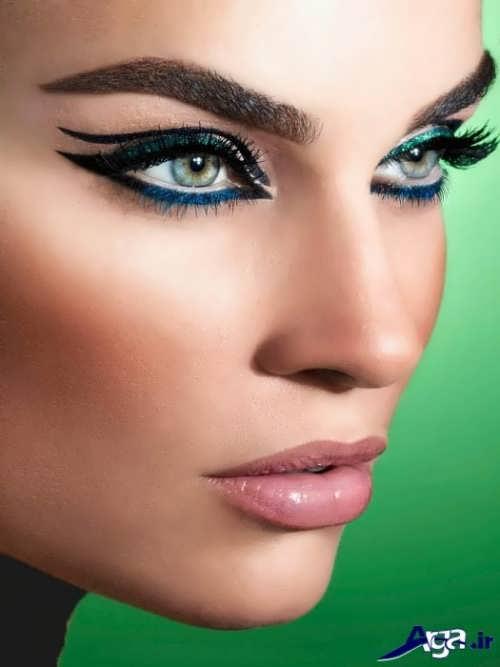 مدل ابرو پهن و بلند زنانه