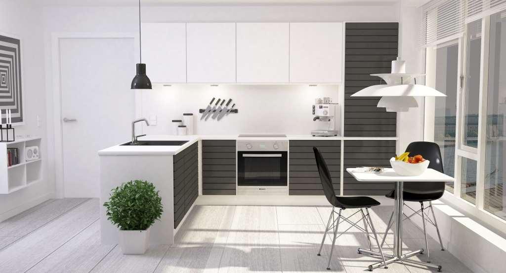 Traditional White Kitchen Design 3d Rendering: دکوراسیون آشپزخانه مدرن با طرح های شیک و کاربردی