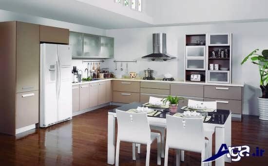 دکوراسیون آشپزخانه مدرن و بزرگ