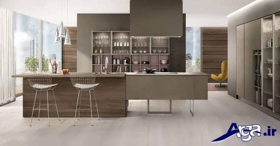 دکوراسیون آشپزخانه مدرن با طراحی متفاوت