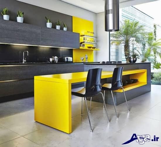 دکوراسیون آشپزخانه مدرن با طراحی کاربردی و زیبا