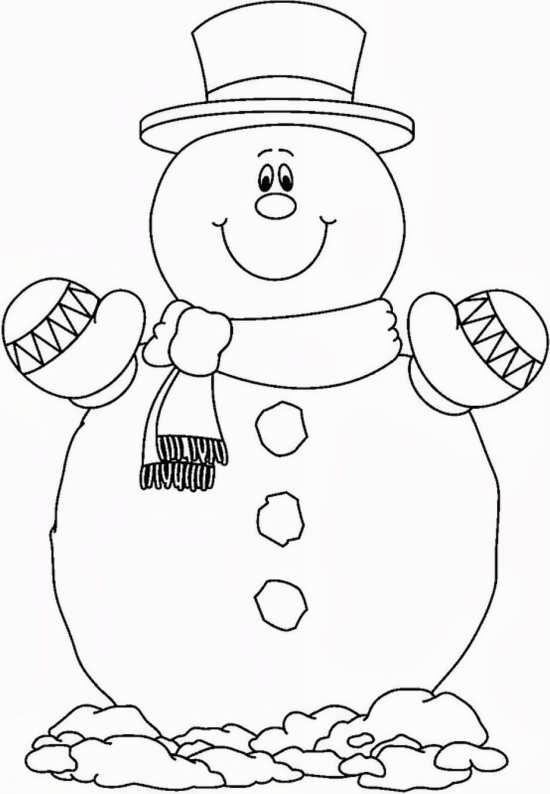 نقاشی آدم برفی با نمک برای کودکان