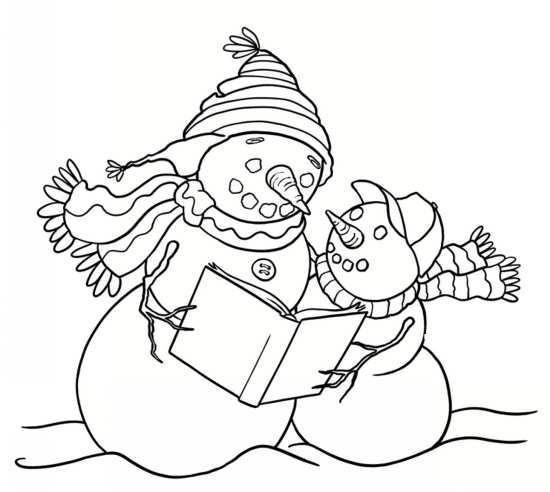 نقاشی فانتزی و متفاوت آدم برفی