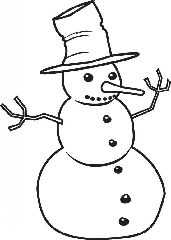 نقاشی ساده و جذاب آدم برفی