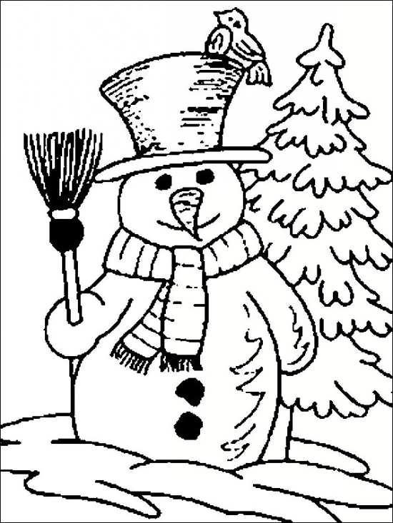 نقاشی کریسمس و آدم برفی برای کودکان