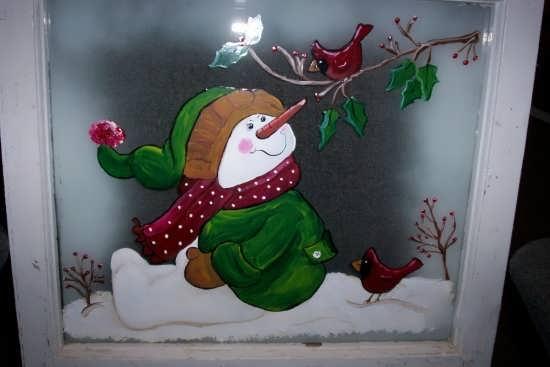 رنگ آمیزی انواع نقاشی های آدم برفی