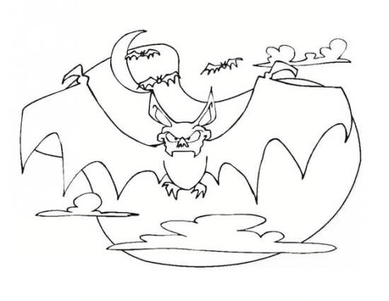 انواع نقاشی های خفاش برای رنگ آمیزی کودکان در خانه