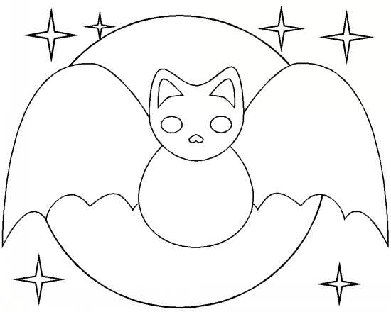 نقاشی ماه و خفاش