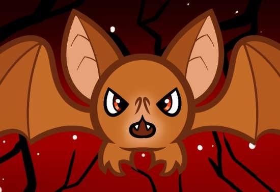 رنگ آمیزی خفاش برای کودکان