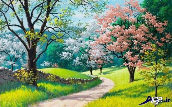 نقاشی از طبیعت بهاری