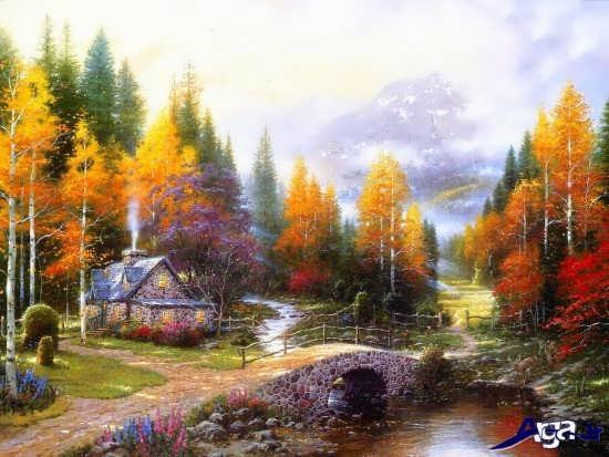 نقاشی از مناظر پاییزی