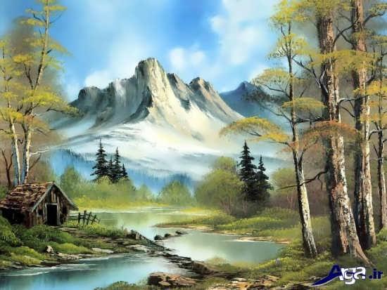 نقاشی بسیار زیبا از طبیعت