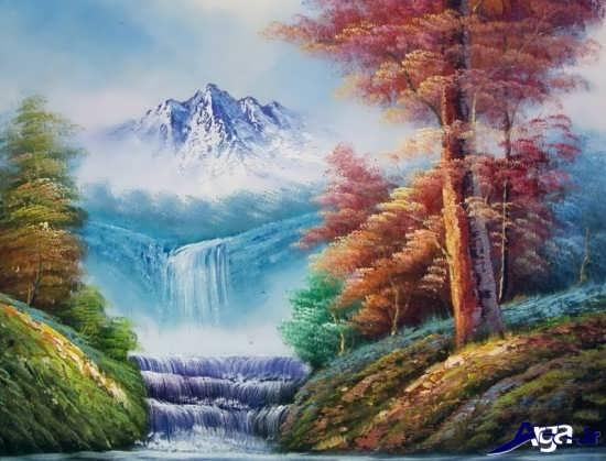 نقاشی از طبیعت پاییزی زیبا
