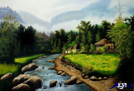 مدل نقاشی زیبا از طبیعت