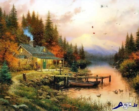 نقاشی طبیعت با رنگ روغن