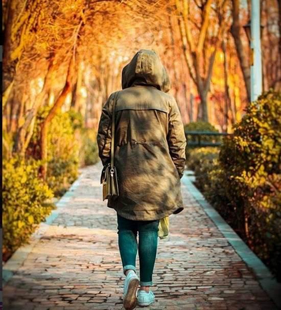 عکس دختر در پاییز برای پروفایل