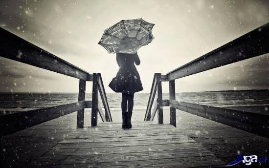 عکس تنهایی زن