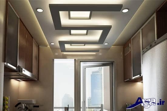 مدل سقف کناف با نورپردازی زیبا